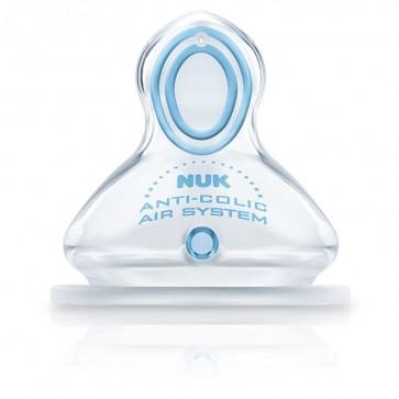Tetina Silicona Nuk First Choice T1 L Alimento de 0 a 6 meses - 2 Tetinas Anatómicas Anticólico