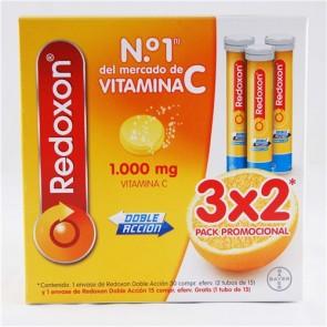 Redoxon Doble Acción Vitamina C y Zinc 30 Comprimidos Efervescentes