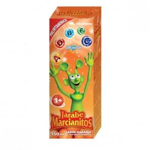 Marcianitos - Jarabe con vitaminas y minerales con sabor a naranja