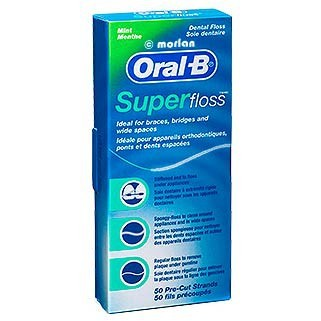 Oral-B Super Floss Seda Dental Sabor Menta 50 Unidades