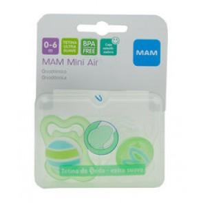 Pack 2 Chupetes Silicona MAM Mini de 0 a 6 meses + Caja Esterilizadora - Chupete Especial Tetina Mini