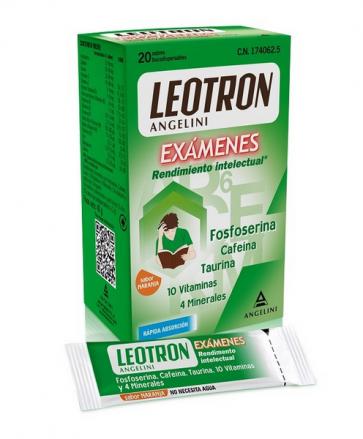 Leotron Exámenes Rendimiento Intelectual 20 sobres -  Concentración y Energía