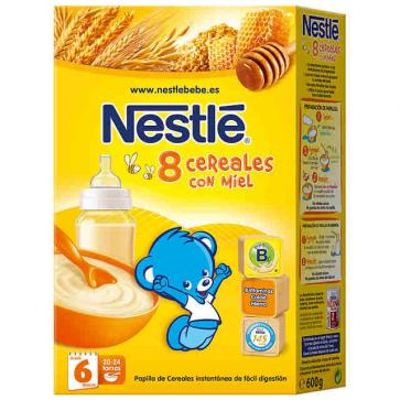 Nestlé 8 Cereales con Miel 600 gr - Papillas de Cereales