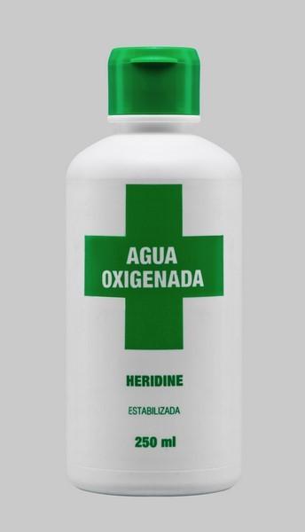 Agua Oxigenada 250 ml Heridine - Antiséptico de Uso Externo