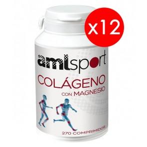 12 Botes AML Sport Colágeno con Magnesio 270 Compr, Ana María La Justicia