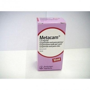 Metacam 1,5 mg Suspensión Oral 10 ml - Alivio Inflamación y Dolor Muscular de Perros