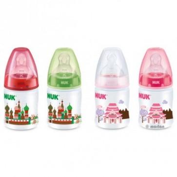Biberón Nuk First Choice Travel 150 ml con Tetina de Silicona - Tetina T1 de 0 a 6 meses - Orificio M para Leche