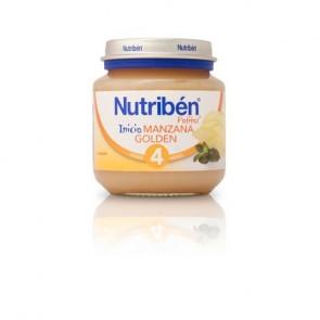 Potito Nutribén Inicio Manzana Golden 130 gr - Alimentación Bebé +4 meses