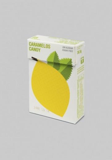 Caramelos Sin Azúcar 36.5 gr Sabor a Limón y Melissa Balmelos - Marca Interapothek - Refresca y Despeja tu Nariz y Garganta