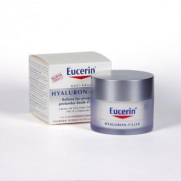 Eucerin Hyaluron Rellenador de Día Piel Seca 50 ml - Ácido Hialurónico, Antiarrugas