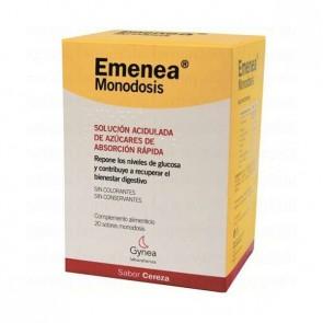 Emenea Sabor Cereza Monodosis 20 Sobres - Remedio para Náuseas y Vómitos del Embarazo