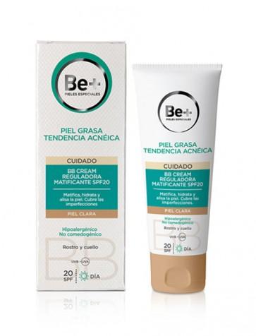 Be+ BB Cream Reguladora Matificante SPF20 Piel Clara 40ml - Matifica, Hidrata, Alisa y Cubre Imperfecciones