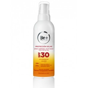 Be+ Protección Solar Spray Corporal Tacto Seco SPF50+ 200 ml