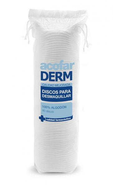 Acofar DISCOS para desmaquillar 80 unidades - limpieza facial, desmaquillante