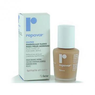 Repavar Oilfree Maquillaje Fluido Pieles Morenas 35 ml - Cuidado Facial