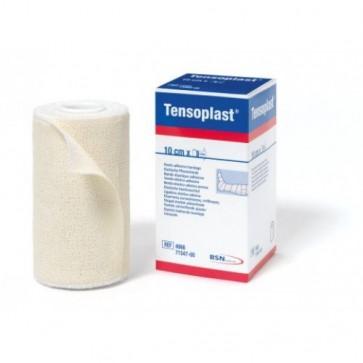 Tensoplast Venda Elástica Adhesiva 10cm x 4,5m - Vendaje de Contención Articular y Funcional