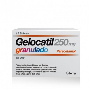 Gelocatil (250 Mg 12 Sobres Granulado )