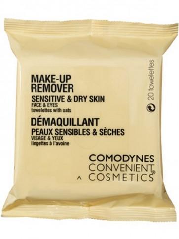 Comodynes Convenient Cosmetics 20 Uds - Toallitas Desmaquillantes para Pieles Sensibles y Secas