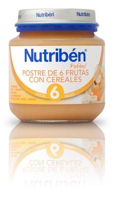 Nutribén Potito Bebé Postre Frutas Con Cereales 130 gr