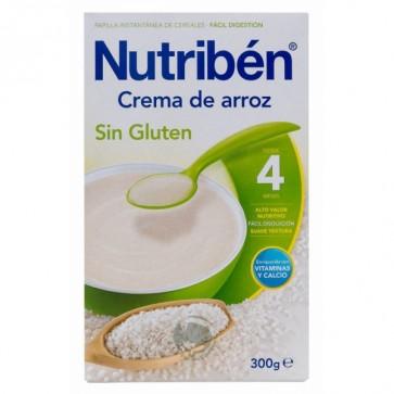 Papilla Nutribén Cereales Sin Gluten 300 gr - Maíz y Arroz +4 meses