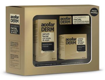 Acofarderm Pack Facial Aceite de Argán Sérum 30 ml + Crema 50 ml