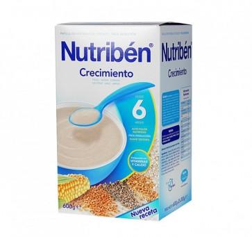 Papilla Nutribén Crecimiento Cereales 600 gr - Alimento Bebés +6 meses