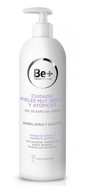 Be+ Gel de Baño Sin Jabón Cuidado Pieles Muy Secas y Atópicas 400 ml