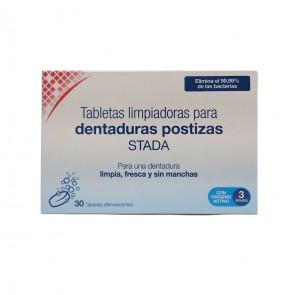 Tabletas Limpiadoras Stada 30 Tabletas – Higiene Dentaduras Postizas, Prótesis