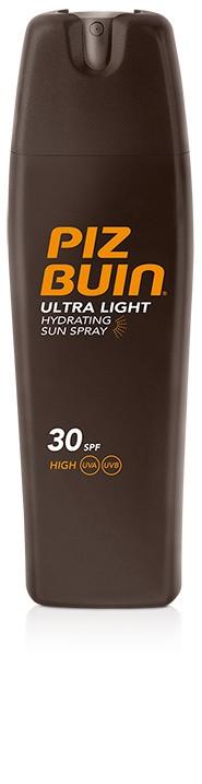 Spray Solar Corporal Piz Buin Tacto Seco Protección Factor SPF 30 de 200 ml - Fórmula Ligera Secado Instantáneo