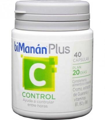Bimanán Plus C (Control) 40 Cápsulas - Controlar el Apetito entre Horas