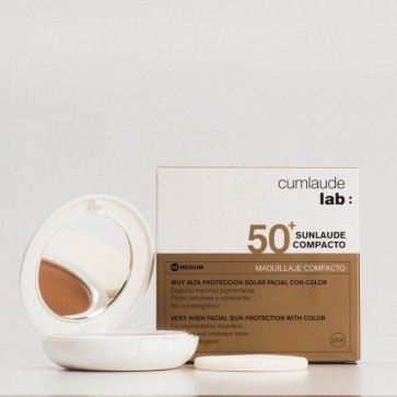 Sunlaude Compacto SPF 50+ Tono Medium - Maquillaje Compacto Alta Protección, Pieles con Manchas