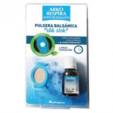 Arko Respira Pulsera Cerámica + Aceite Eucalipto