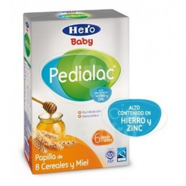 Hero Baby Pedialac Cereales Miel 500 Gr - Papilla de Cereales y Miel