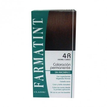 Farmatint 4R Castaño Cobrizo 130 ML - Coloración Permanente Sin Amoniaco