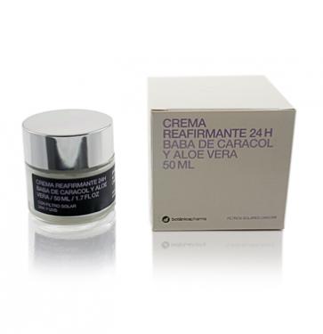 Crema Reafirmante Facial 24H Baba de Caracol y Áloe Vera Botanicapharma - Hidratante, Cicatrizante y Regeneradora