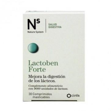 Lactoben 30 Comprimidos Masticables Nature System - Para Personas con Altos Niveles de Intolerancia a la Lactosa