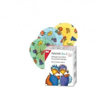 Opticlude Mini 5 cm x 6 cm 30 Unidades - Parche Ocular Infantil con Dibujos Unisex