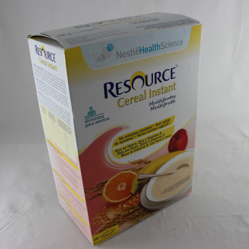 Resource Cereal Instant Papilla Multifrutas 600 gr - Dieta, Adultos, Vitaminas, Minerales