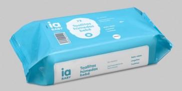 Recambio 72 Toallitas Húmedas para Bebé de Interapothek - Para la Limpieza de las Manos Rostro y Culito