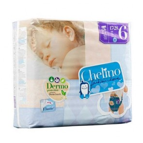Pañal Chelino Fashion & Love 27uds. Talla 6 Para Bebés entre 17 y 28 kg - Doble Núcleo de Absorción