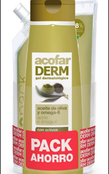 Pack Acofar Gel Aceite de Oliva y Omega 6 750ml + Ecopack 750ml - Hidratante