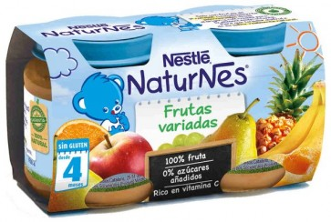 Nestlé Naturnes Frutas Variadas 130gr x2- Vitaminas y Energía para tu Bebé - 100% Natural