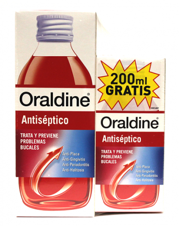 Oraldine Colutorio Antiséptico Pack 400 ml + 200 ml Gratis - Enjuague Bucal