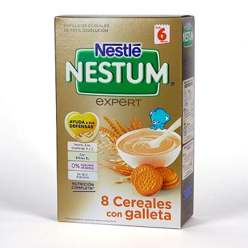 Nestlé Nestum 8 Cereales con Galletas 600 gr - Papillas de Cereales