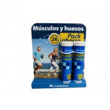 Duplo Arkovital Magnesio 14 Comprimidos Efervescentes x2 - Complemento Alimenticio con Magnesio - Músculos y Huesos