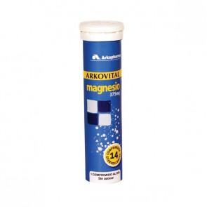 Arkovital Magnesio 14 comps. efervescentes - salud huesos, sistema circulatorio