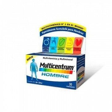 Multicentrum Hombre 30 Comprimidos- Multivitamínico para Hombres