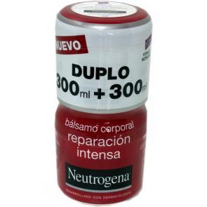 Neutrogena Bálsamo Corporal Reparación Intensa Duplo 300 ml + 300 ml - Piel Muy Seca, Irritación
