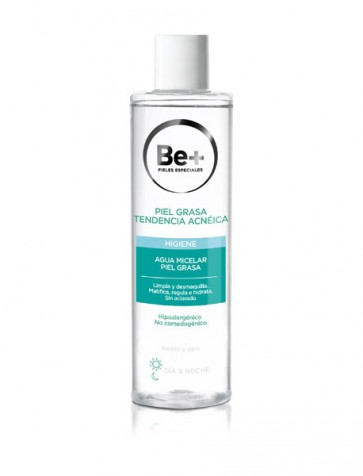 Be+ Agua Micelar Piel Grasa Tendencia Acnéica Día y Noche Rostro y Ojos  250 ml