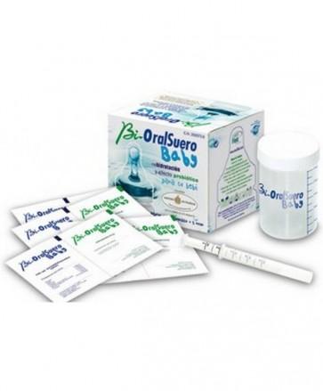 BioralSuero Baby (4+4) Sobres +1 Jeringuilla +1 Vaso - Sal de Rehidratación + Probiótico - Tratamiento Diarrea Acuosa